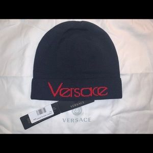 Authentic Versace beanie stocking cap hat head